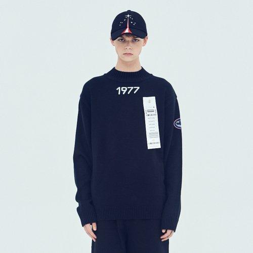 스테레오 바이널즈(STEREO VINYLS) [AW17 ISA] Voyager Knit(Black)