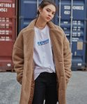 매드마르스(MADMARS) EMBROIDERED FUR COAT_CAMEL