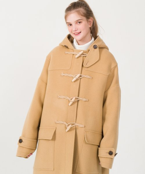 메인부스(MAINBOOTH) 9F Oversized Duffle Coat(BEIGE)