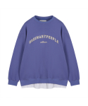 오디너리피플(ORDINARY PEOPLE) ORDINARY T-SHIRT LAYERED PURPLE SWEAT SHIRT