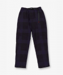 NEL CHECK LOOSE TAPERED PANTS NAVY