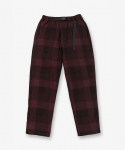 NEL CHECK LOOSE TAPERED PANTS DARK WINE