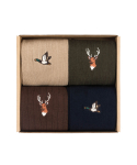 와일드 브릭스(WILD BRICKS) MALLARD/REINDEER SOCKS 4SET (beige/navy/khaki/brown)