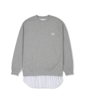 소윙바운더리스() MTM LAYERED SHIRTS (GRAY)