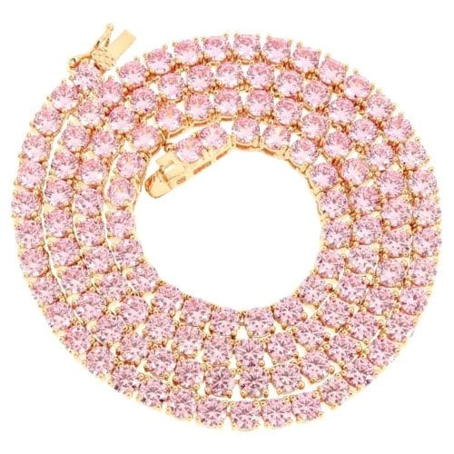 로이알(ROI'AL) ROIAL Pink Tennis Necklace