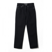 노클레임(NOCLAIM) NOCLAIM 10th Anniversary Used wash Standard fit Ankle Denim Black