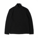 노클레임() NOCLAIM 10th Anniversary Waffle Turtleneck Sweater Black