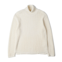 노클레임() NOCLAIM 10th Anniversary Waffle Turtleneck Sweater Ivory