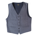 아웃스탠딩(OUTSTANDING) 30s MOLE CLOTH VEST[NAVY]