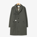 헨더(HANDER) Robe Shawl Collar Coat [Khaki]