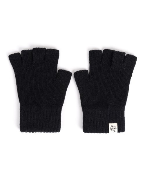 와일드 브릭스(WILD BRICKS) FINGER LESS GLOVES (black)