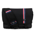 핍스(PEEPS) essential messenger bag(stripe_black)