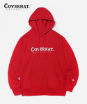 커버낫(COVERNAT) AUTHENTIC LOGO HOODIE RED