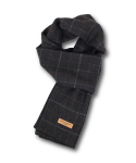 카멜워크(CAMEL WORK) Wool Blend Check Muffler(Charcoal) #01