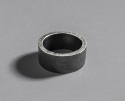 아레테(ARETE) Black Hammered Ring
