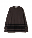 패브릭스(FABRICES) FABRICES / FADED L/S T-SHIRT / S.BLACKxCHACOAL