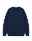 [W]Pigment Oversize Sweatshirt - Navy / Over fit