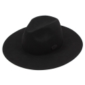 유니버셜 케미스트리(UNIVERSAL CHEMISTRY) Black Simple Wool Fedora BK 메탈페도라
