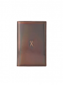 조셉앤스테이시(JOSEPH&STACEY) Easysafe Flap It Passport Wallet Mirror Brown