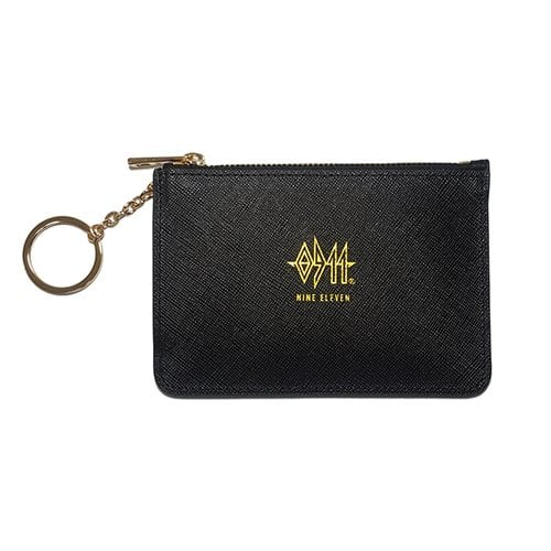 나인일레븐(NINE ELEVEN) Leather Card Wallet - Black