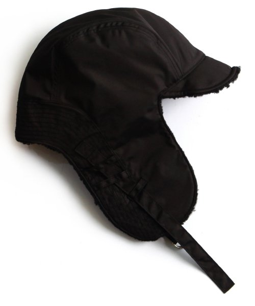 슬리피슬립(SLEEPYSLIP) [unisex]F/W REVERSIBLE SATIN TROOPER HAT BLACK
