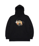 아임낫어휴먼비잉() THE DRINK TAKES YOU HOODIE - BLACK