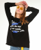 [UNISEX]2taping lettering long sleeve(black)