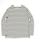 아웃스탠딩(OUTSTANDING) BOATNECK LONG SLEEVE[IVORY/NAVY]