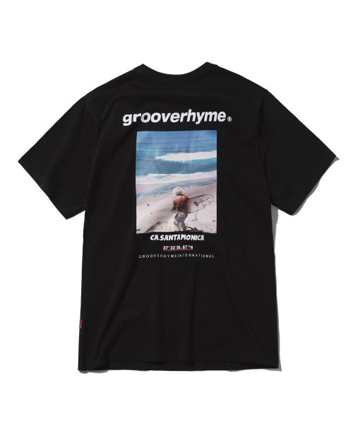 그루브라임(GROOVE RHYME) 2018 3 SURFING MAN T-SHIRTS 1 (BLACK) [GTS004G23BK]