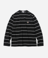 L/S THIN STRIPE T-SHIRTS BLACK