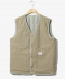 Twin Stripe Reversible Vest Beige