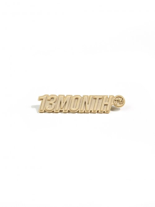 써틴먼스(13MONTH) LOGO BROOCH (GOLD)