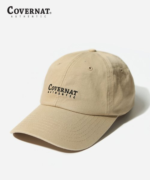 커버낫(COVERNAT) AUTHENTIC LOGO CURVE CAP BEIGE