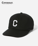 커버낫(COVERNAT) EMBROIDERY C LOGO B.B CAP BLACK