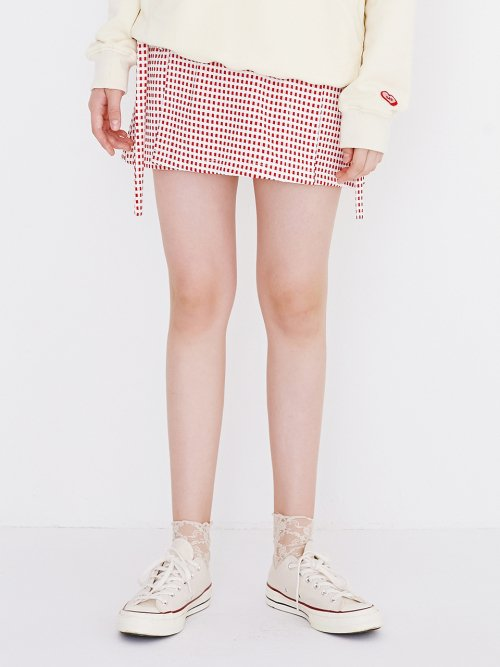 마가린핑거스(MARGARIN FINGERS) mini square skirt(red)