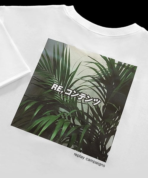 리플레이컨테이너(REPLAY CONTAINER) new replay campaign 1/2 tee (green)