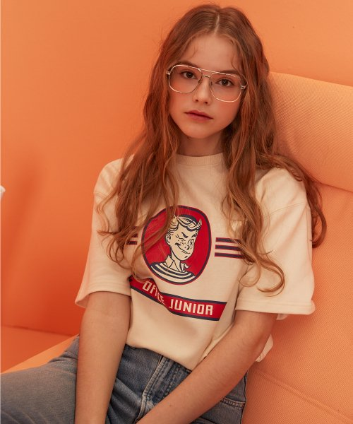 버닝(BURNING) Office Junior 1/2 T-shirt (Ivory)