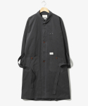 헨더(HANDER) Single Shawl Collar Robe Coat Charcoal