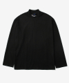 MOCK NECK L/S TEE BLACK