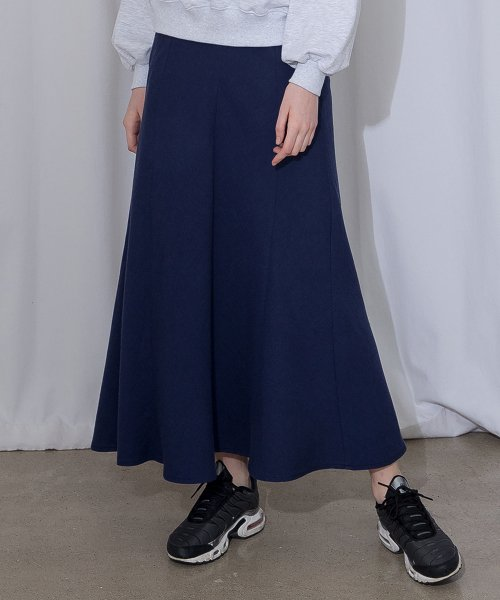 모어올레스(MORE OR LESS) COTTON LONG SKIRT - NAVY
