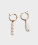 포스트루드(POSTLUDE) UNBAL PEARL RING EARRINGS