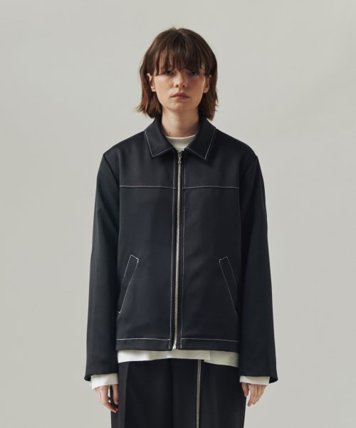 트립르센스(TRIP LE SENS) STITCHES ZIPPER BLOUSON BLACK