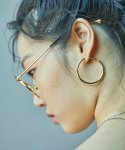 러브미몬스터(LOVE ME MONSTER) Bold Hoop Ring Earrings