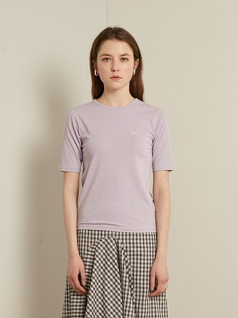 티엠오 바이 써틴먼스(TMO BY 13MONTH) SLIM ROUND T-SHIRT (PURPLE)