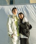엑스와이지(XYZ) UNISEX POCKET WINDBREAKER - WHITE