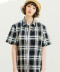 S/S 1PK CHECK SHIRTS BLACK