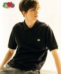 프룻오브더룸(FRUIT OF THE LOOM) [Asian fit] WAPPEN POLO T-SHIRTS BLACK