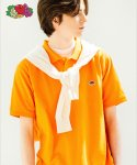 프룻오브더룸(FRUIT OF THE LOOM) [Asian fit] WAPPEN POLO T-SHIRTS ORANGE