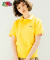 프룻오브더룸(FRUIT OF THE LOOM) [Asian fit] WAPPEN POLO T-SHIRTS YELLOW