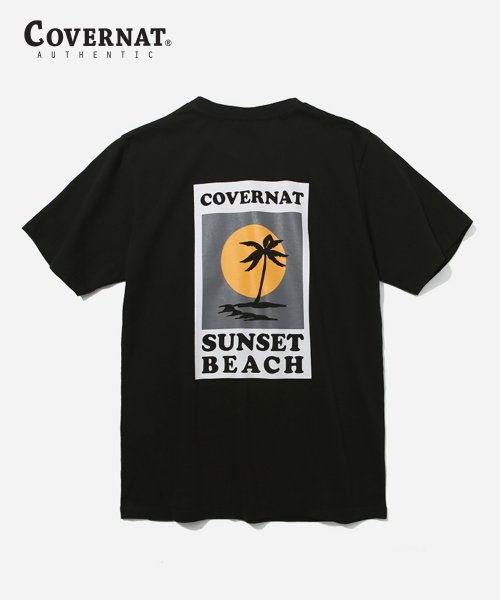 커버낫(COVERNAT) S/S SUNSET PALM TREE TEE BLACK